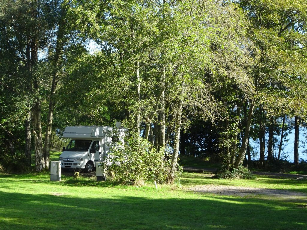 Betsy the motorhome at Luss camp site loch lomond
