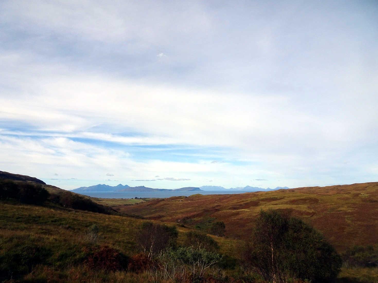 the islands of Laig Rum and Skye