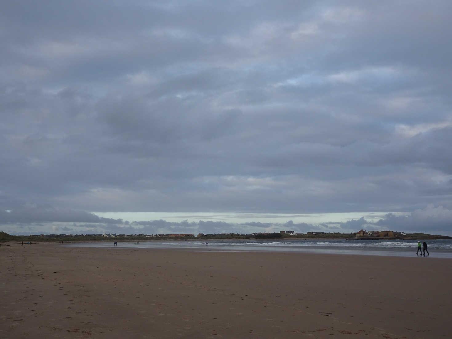 one last play on beadnell beach