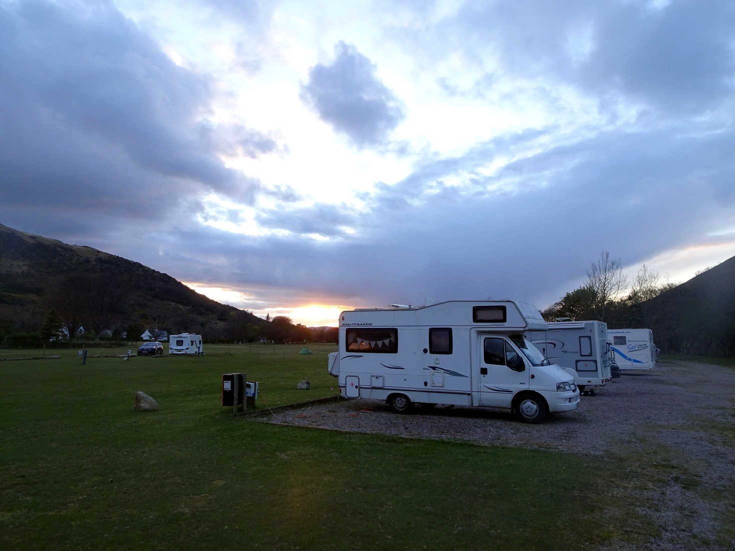 Betsy at Lochranza Campsite