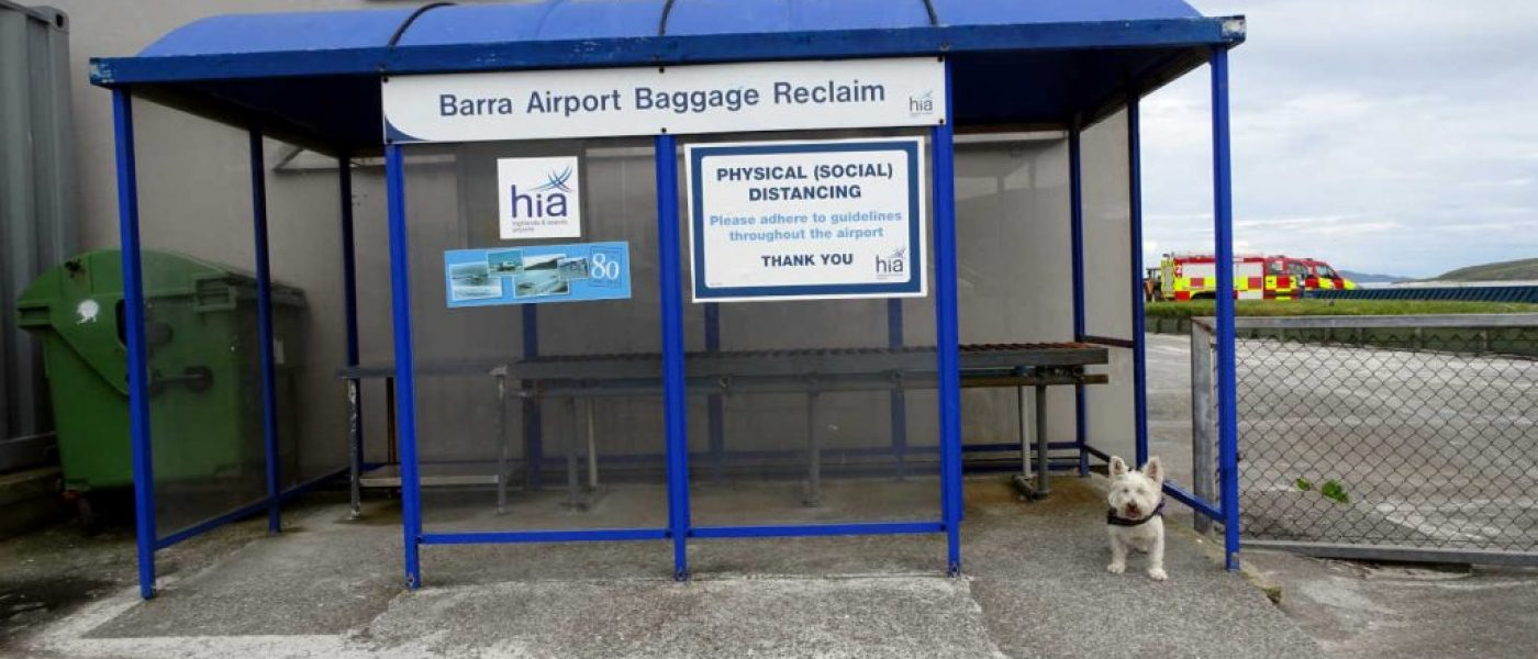 Poppy in trouble at Barra Airport