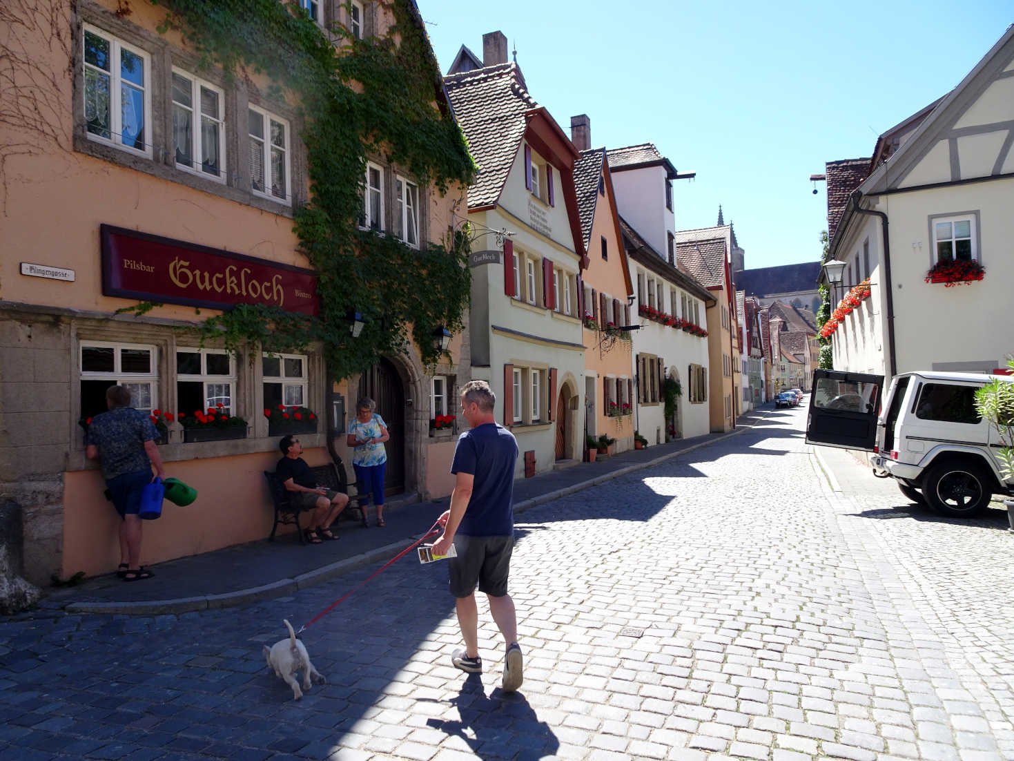 me and dad in german town