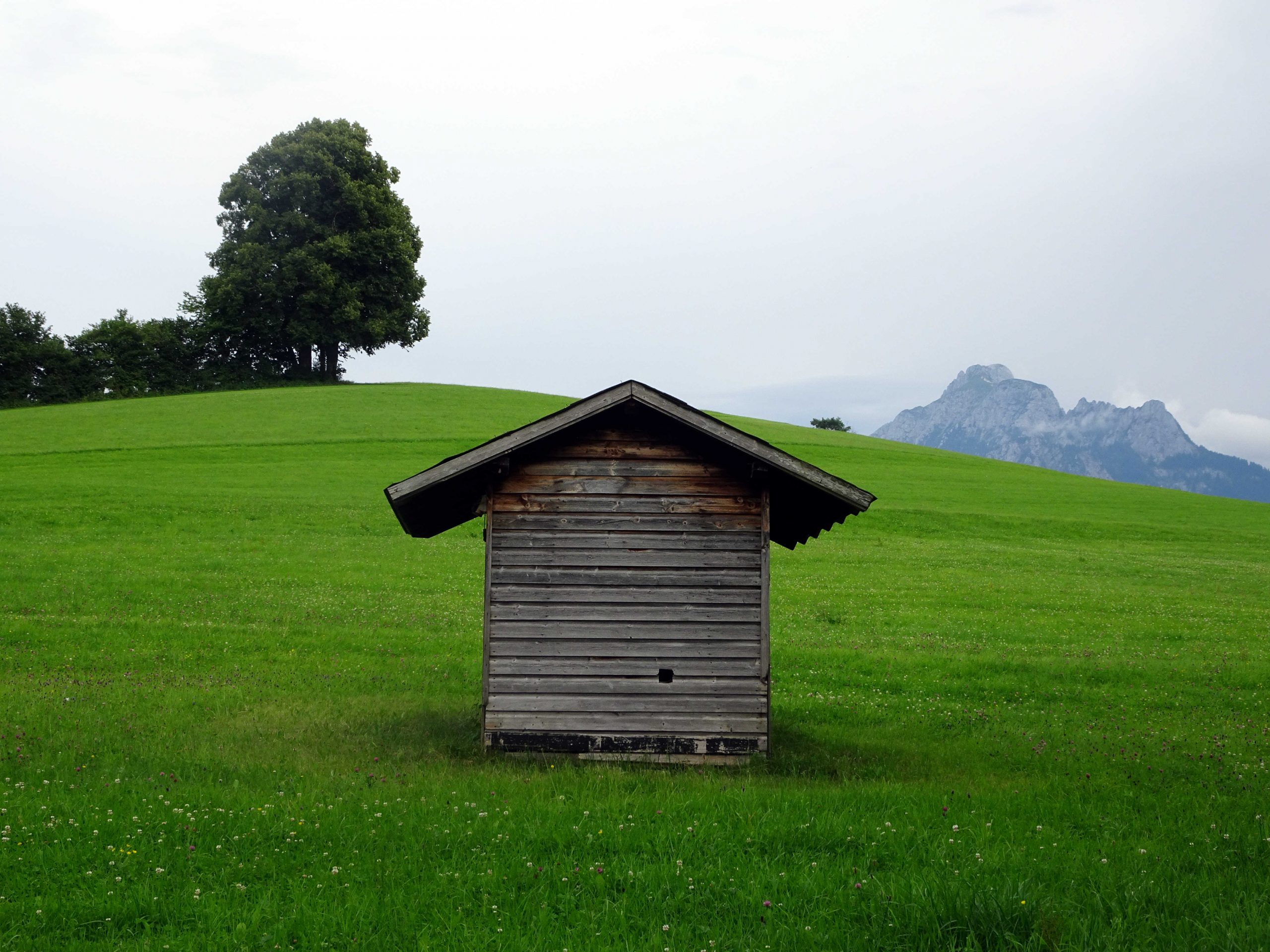 shed in german alps